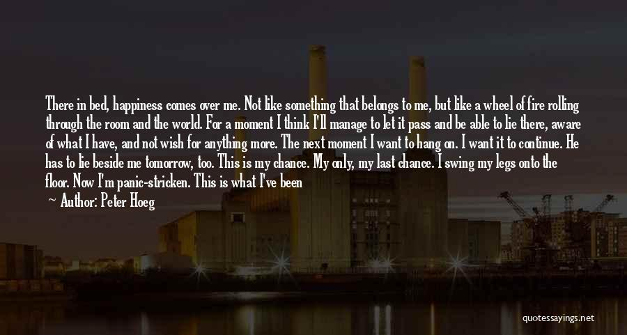 I Want To Be Something More Quotes By Peter Hoeg