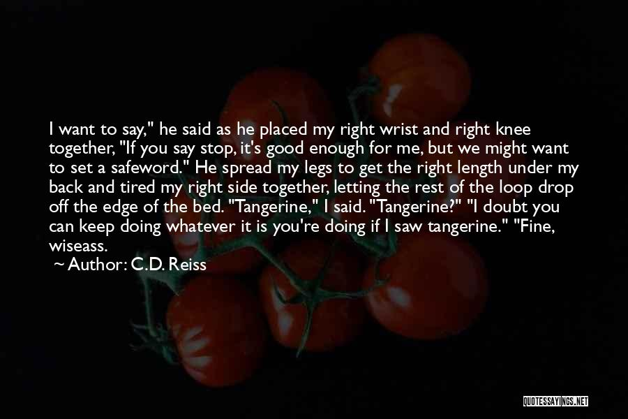 I Want To Get Back Together With You Quotes By C.D. Reiss