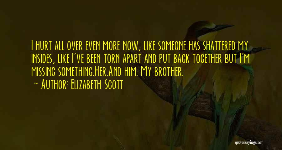 I Want To Get Back Together With You Quotes By Elizabeth Scott