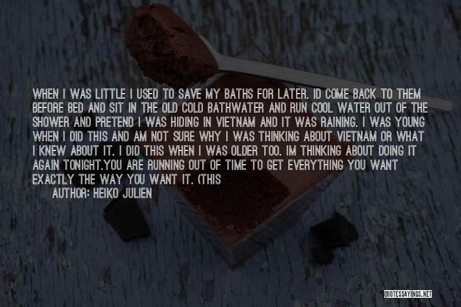 I Want To Get Back Together With You Quotes By Heiko Julien