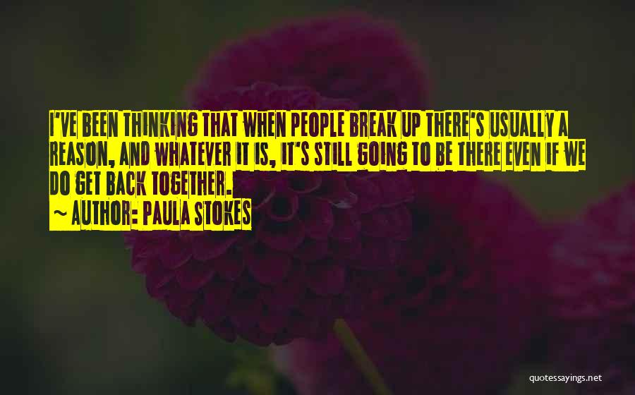I Want To Get Back Together With You Quotes By Paula Stokes