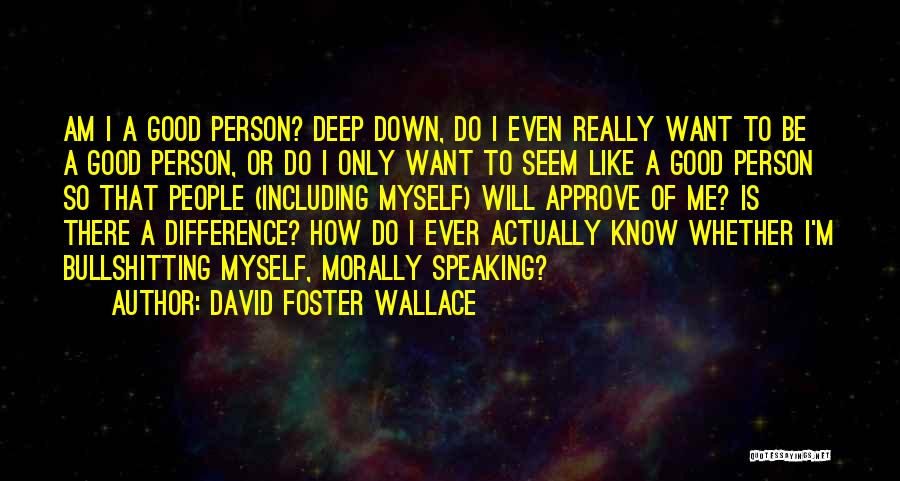 I Want To Know Myself Quotes By David Foster Wallace