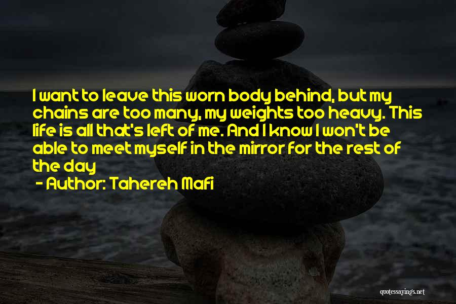 I Want To Know Myself Quotes By Tahereh Mafi