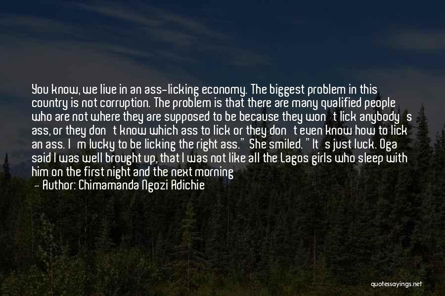 I Want To Lick You Quotes By Chimamanda Ngozi Adichie