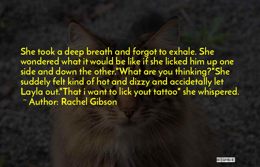 I Want To Lick You Quotes By Rachel Gibson