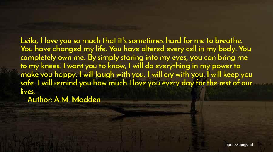 I Want To Make You Happy Love Quotes By A.M. Madden