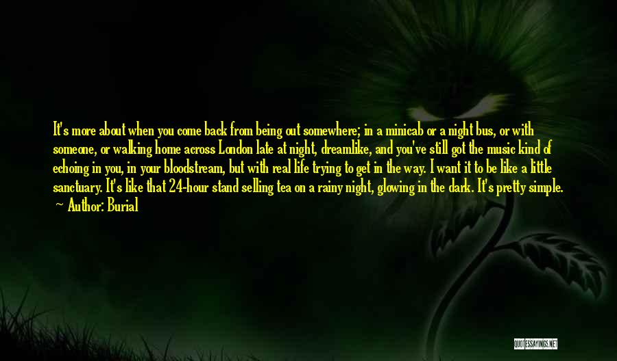 I Want You Back Home Quotes By Burial