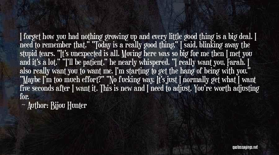 I Want You To Forget Me Quotes By Bijou Hunter