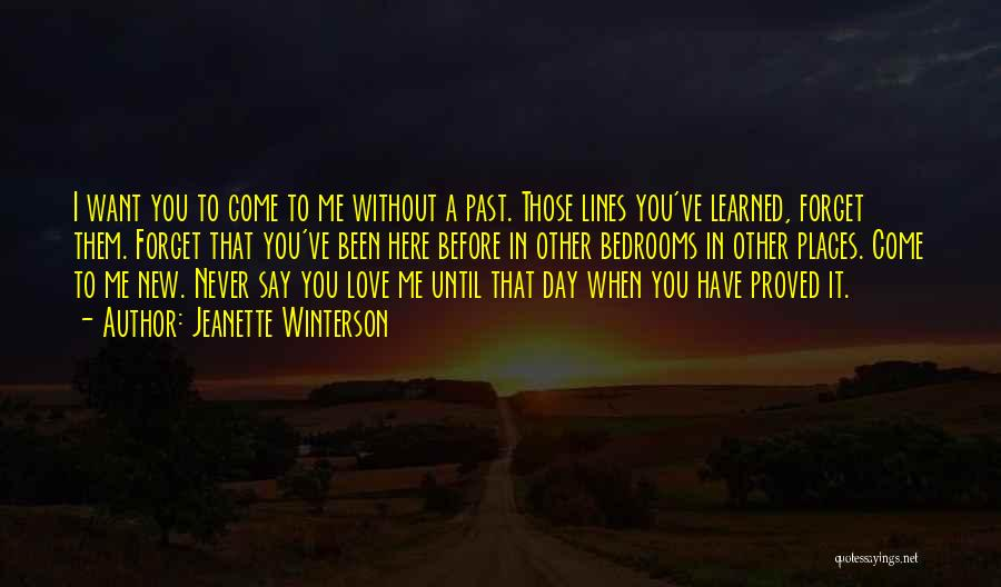 I Want You To Forget Me Quotes By Jeanette Winterson