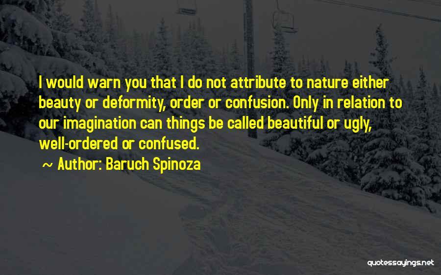 I Warn You Quotes By Baruch Spinoza