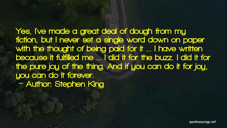 I Was Made For Loving You Quotes By Stephen King