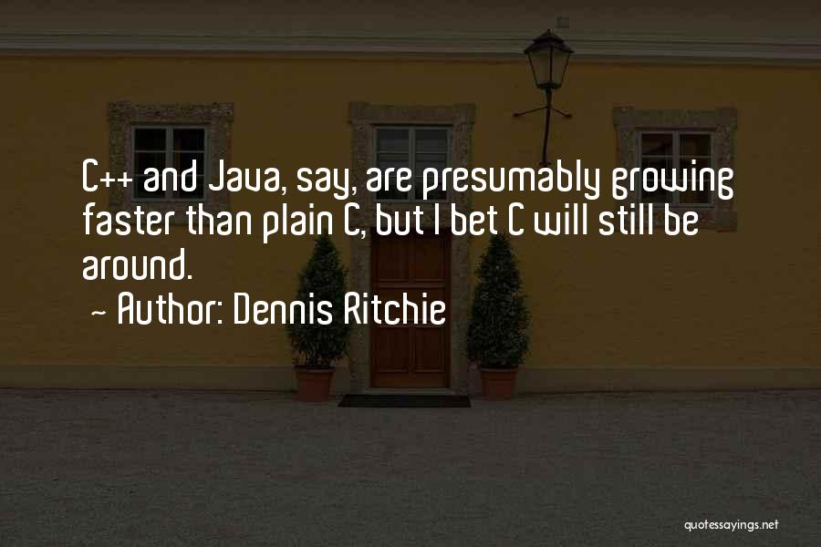 I Will Be Still Quotes By Dennis Ritchie