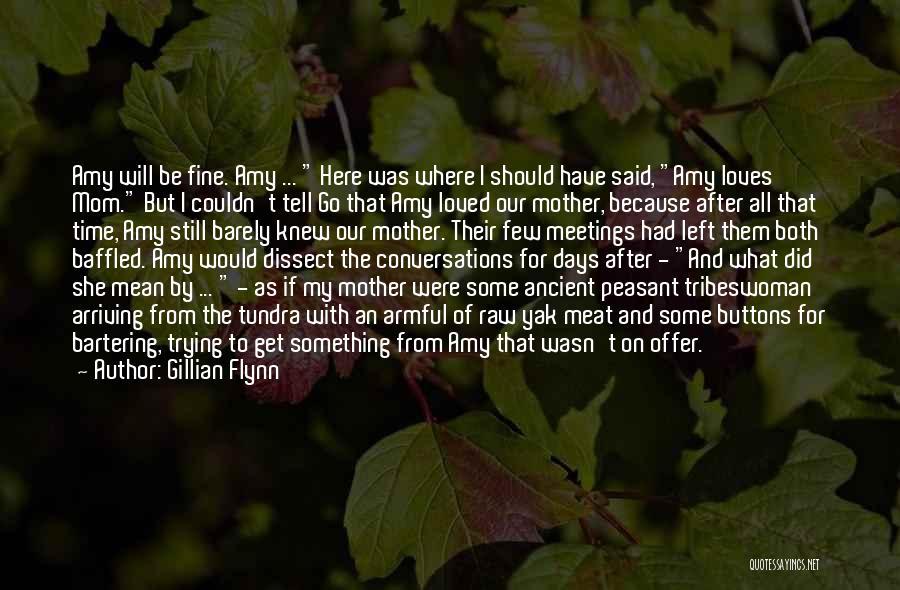 I Will Be Still Quotes By Gillian Flynn