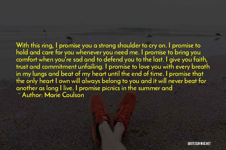 I Will Care For You Always Quotes By Marie Coulson