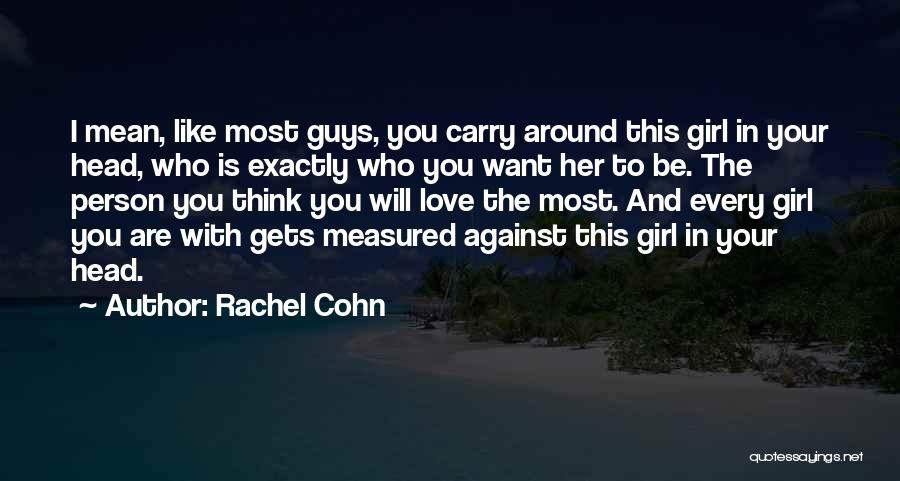 I Will Carry You Love Quotes By Rachel Cohn