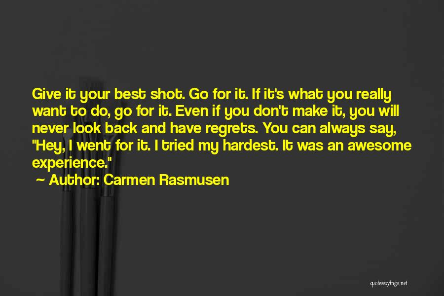 I Will Do My Best Quotes By Carmen Rasmusen