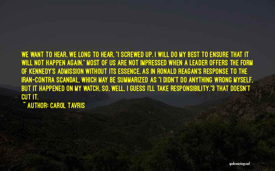 I Will Do My Best Quotes By Carol Tavris