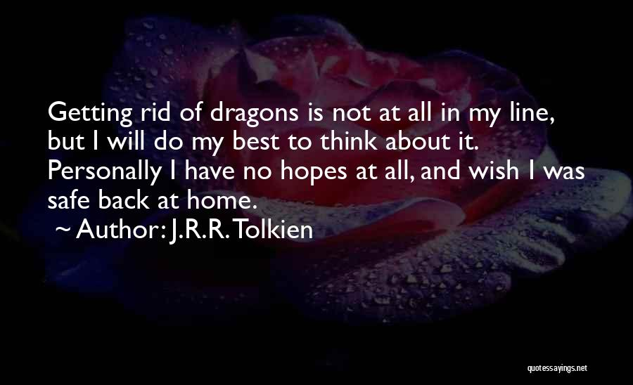 I Will Do My Best Quotes By J.R.R. Tolkien