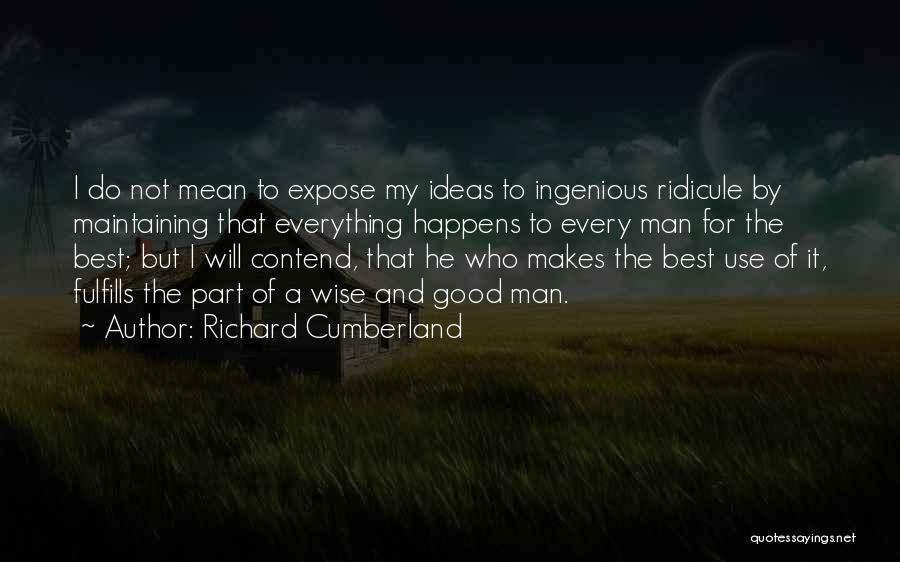 I Will Do My Best Quotes By Richard Cumberland