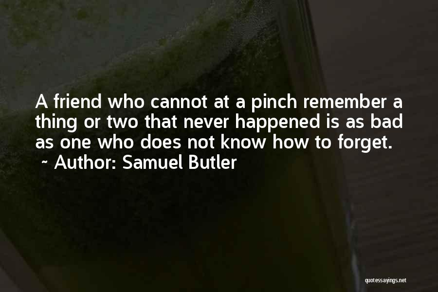 I Will Never Forget You Friend Quotes By Samuel Butler