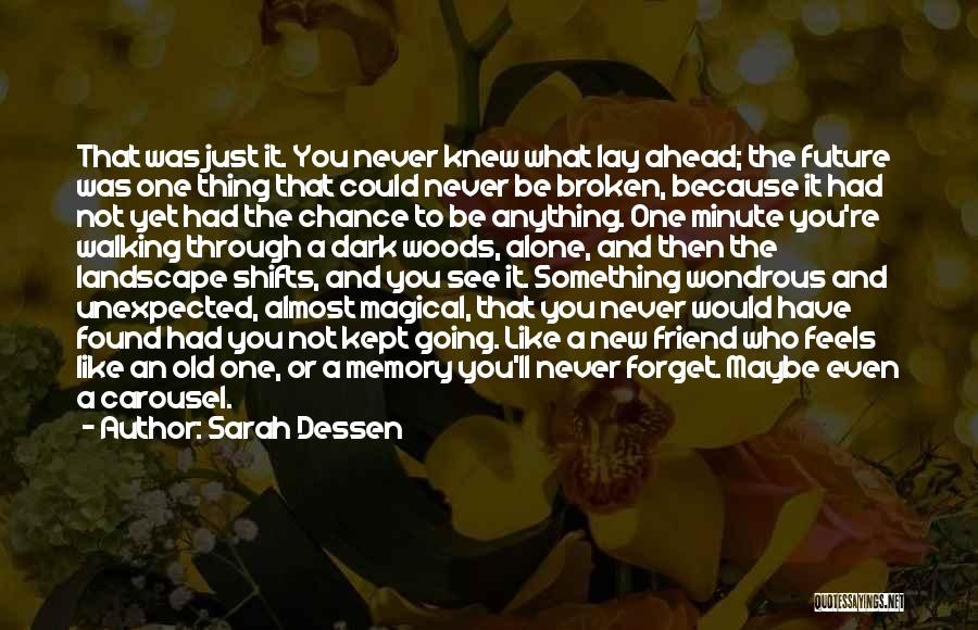I Will Never Forget You Friend Quotes By Sarah Dessen