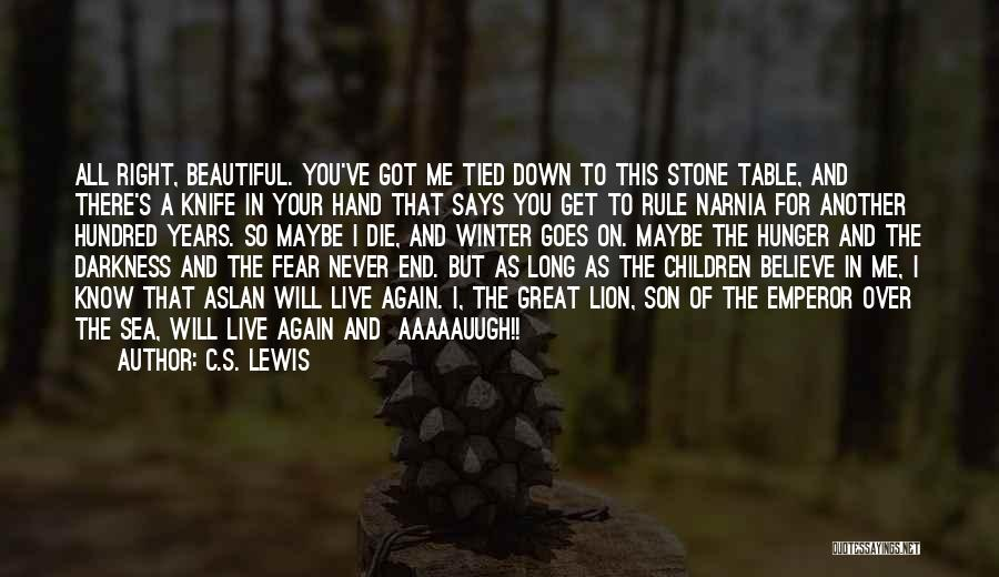 I Will Never Get You Quotes By C.S. Lewis