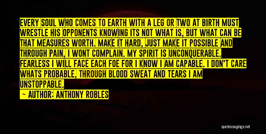 I Will Not Care Quotes By Anthony Robles