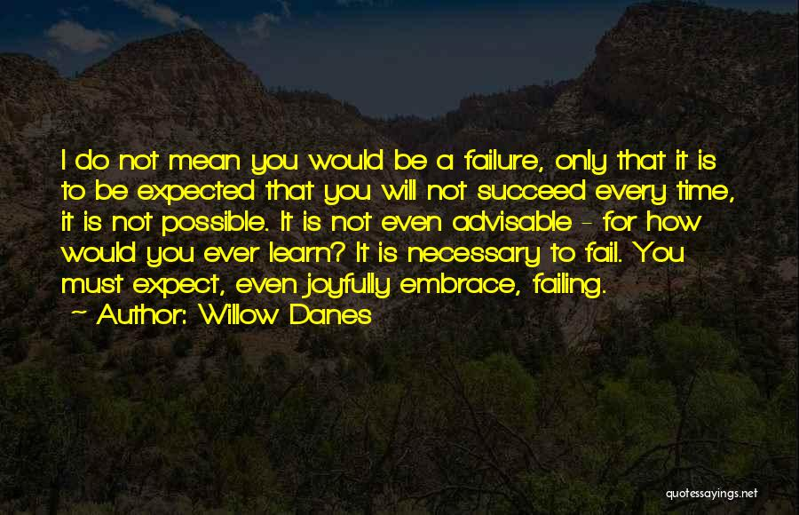 I Will Not Fail Quotes By Willow Danes