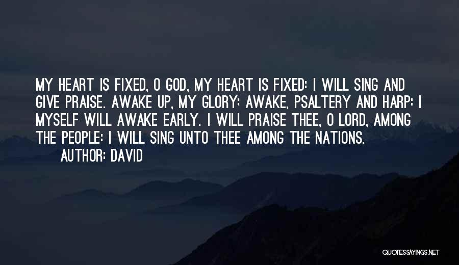 I Will Praise You Lord Quotes By David