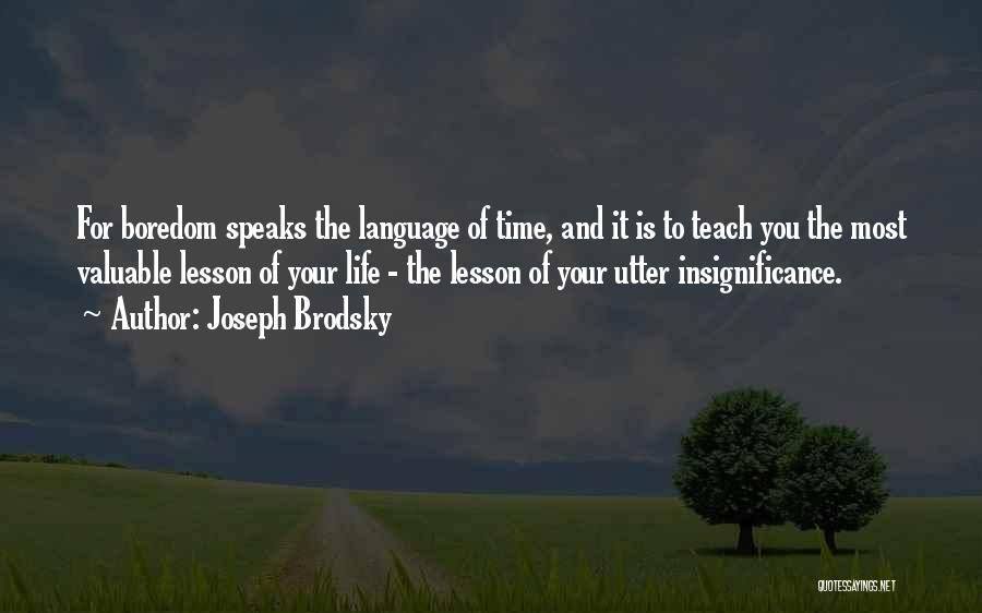 I Will Teach You A Lesson Quotes By Joseph Brodsky