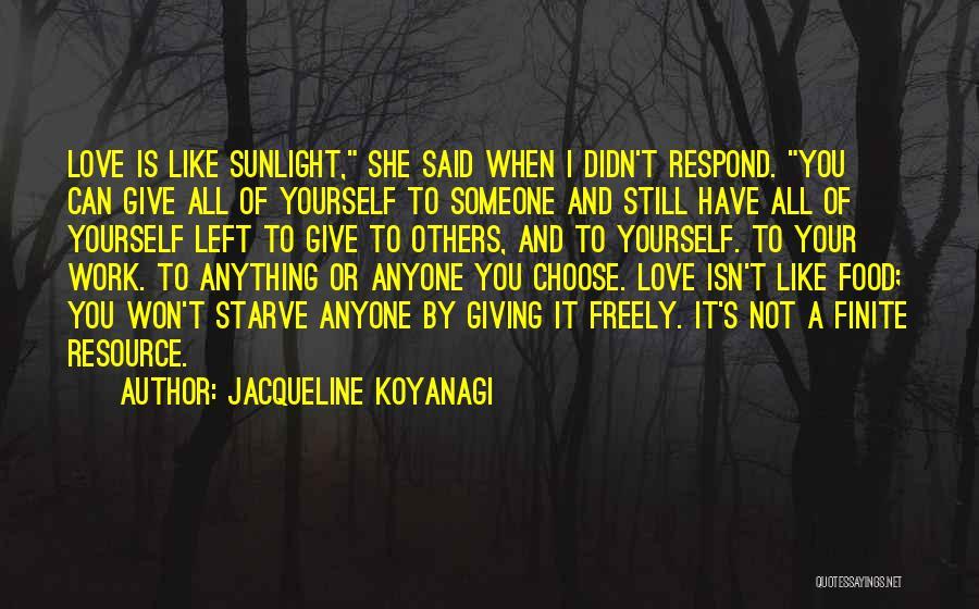 I Won't Give Up Love Quotes By Jacqueline Koyanagi