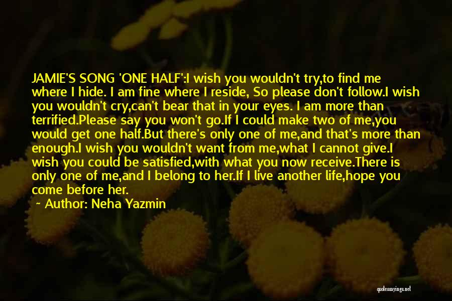 I Won't Give Up Love Quotes By Neha Yazmin