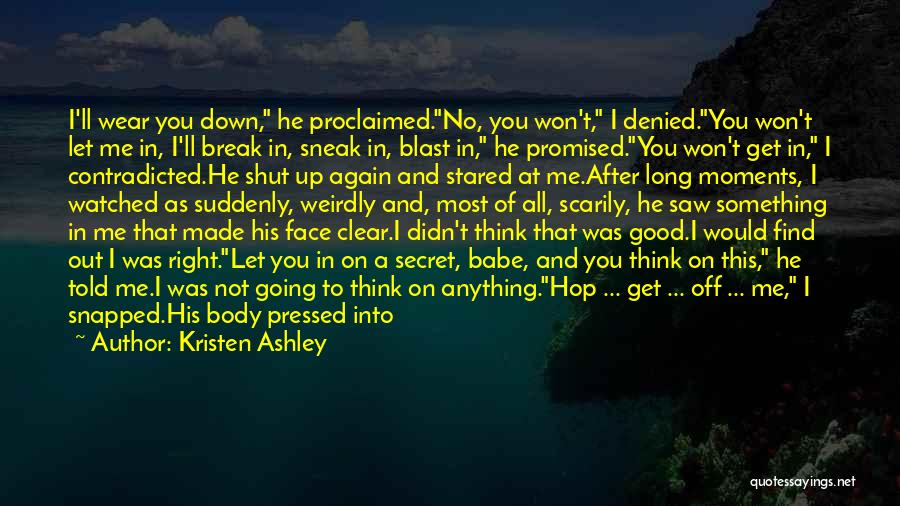I Won't Let You Break Me Down Quotes By Kristen Ashley