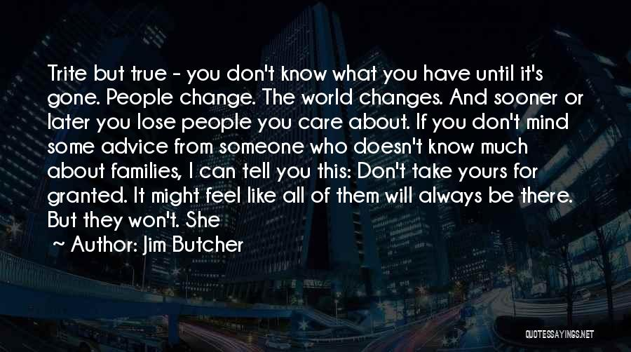 I Won't Take You For Granted Quotes By Jim Butcher