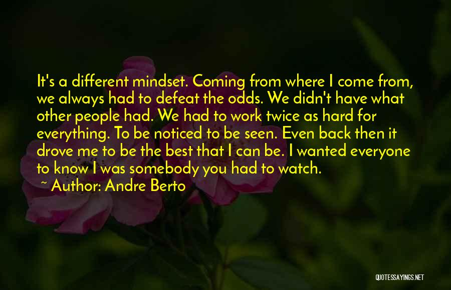 I Work Hard For Everything I Have Quotes By Andre Berto