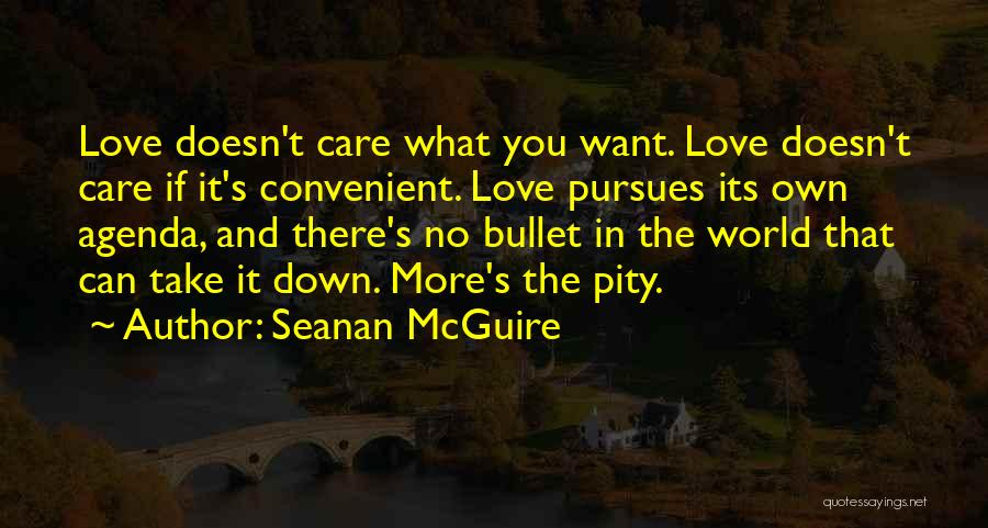 I Would Take A Bullet For You Quotes By Seanan McGuire