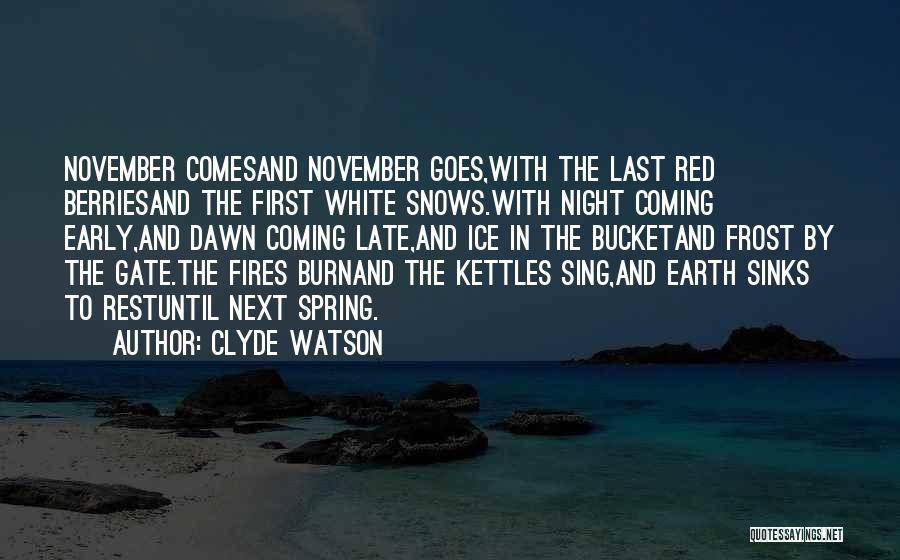 Ice Bucket Quotes By Clyde Watson
