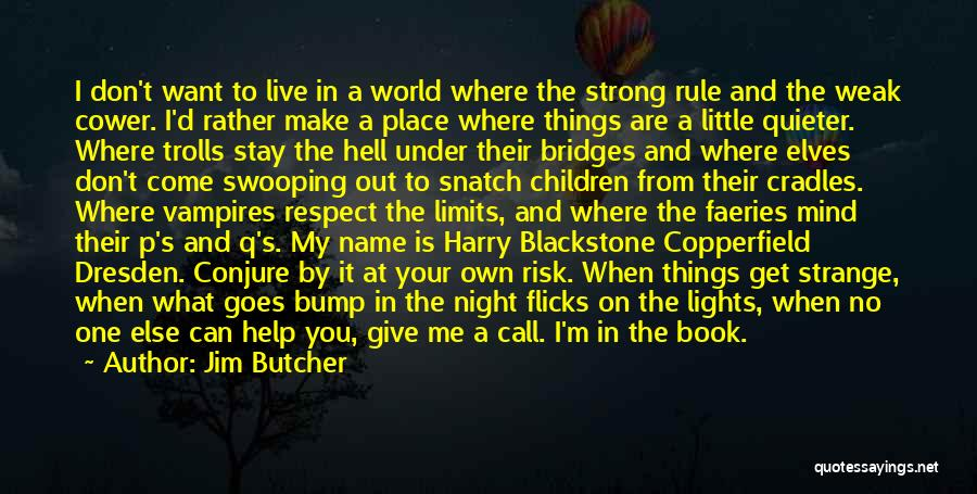 I'd Give You The World Quotes By Jim Butcher