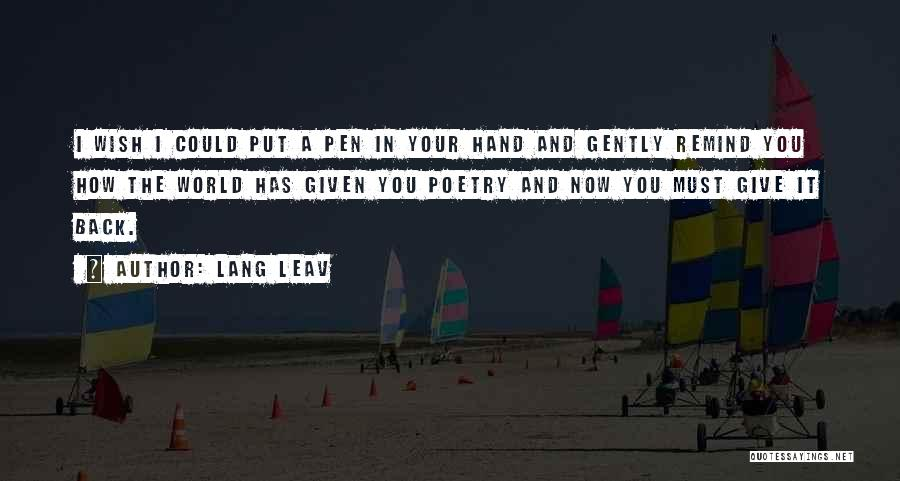 I'd Give You The World Quotes By Lang Leav