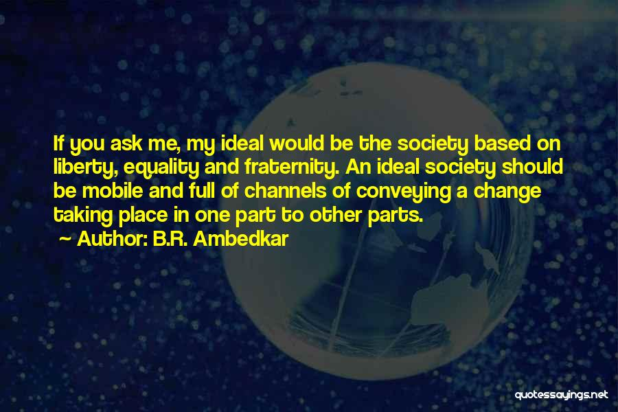 Ideal Society Quotes By B.R. Ambedkar