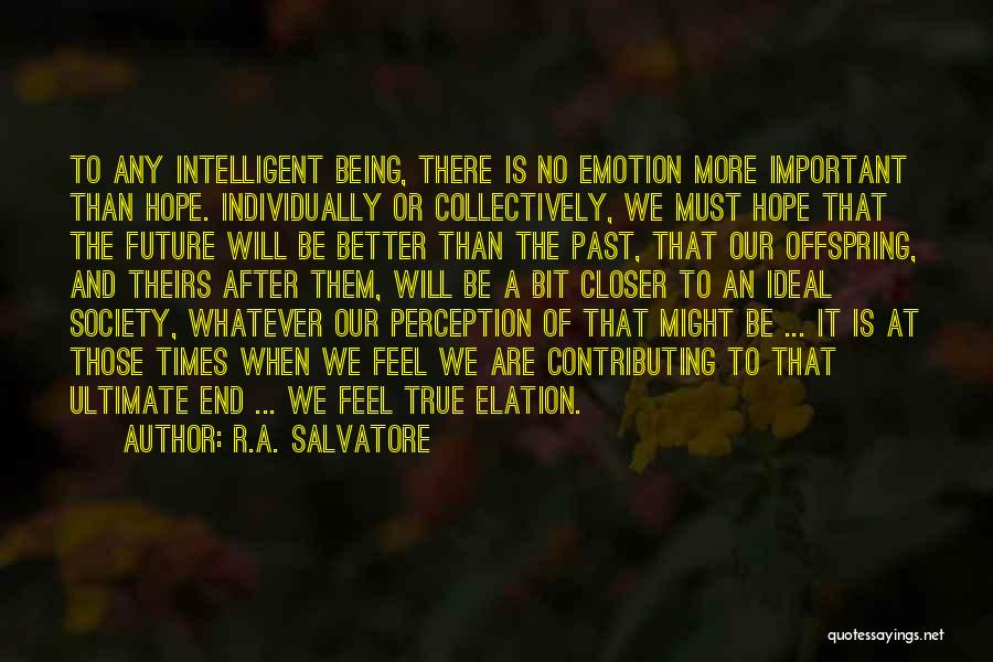 Ideal Society Quotes By R.A. Salvatore