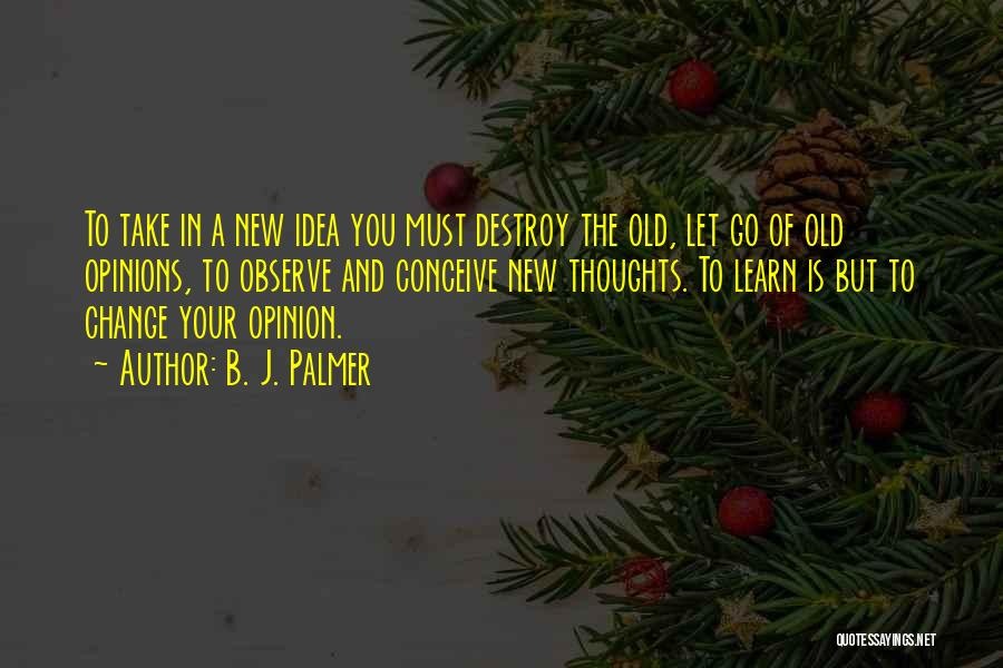 Ideas And Change Quotes By B. J. Palmer