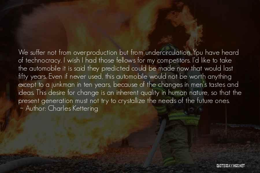 Ideas And Change Quotes By Charles Kettering