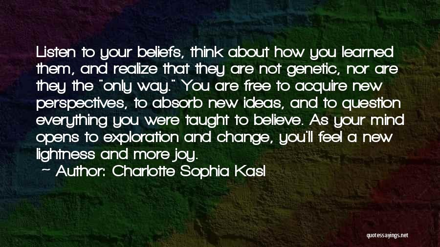 Ideas And Change Quotes By Charlotte Sophia Kasl