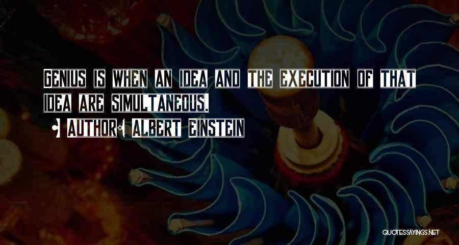 Ideas Vs Execution Quotes By Albert Einstein