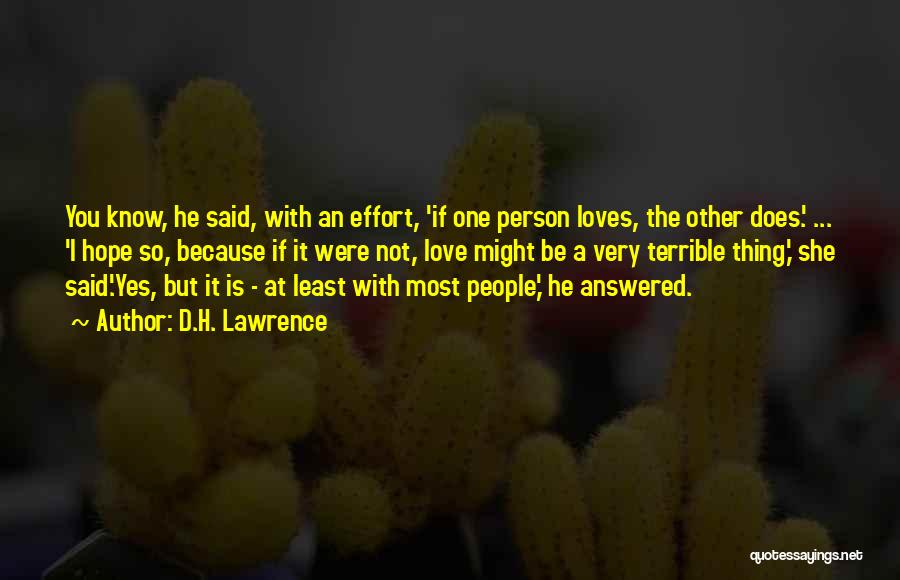 If A Person Loves You Quotes By D.H. Lawrence