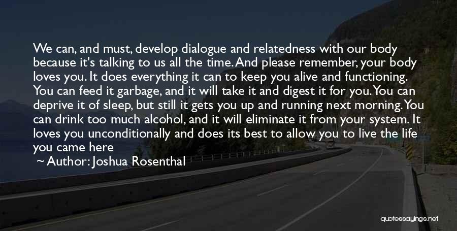If A Person Loves You Quotes By Joshua Rosenthal