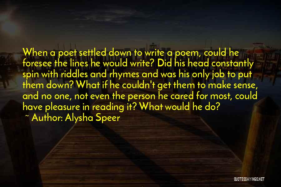 If He Cared Quotes By Alysha Speer