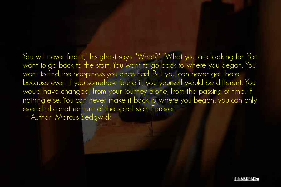 If I Can Turn Back Time Quotes By Marcus Sedgwick