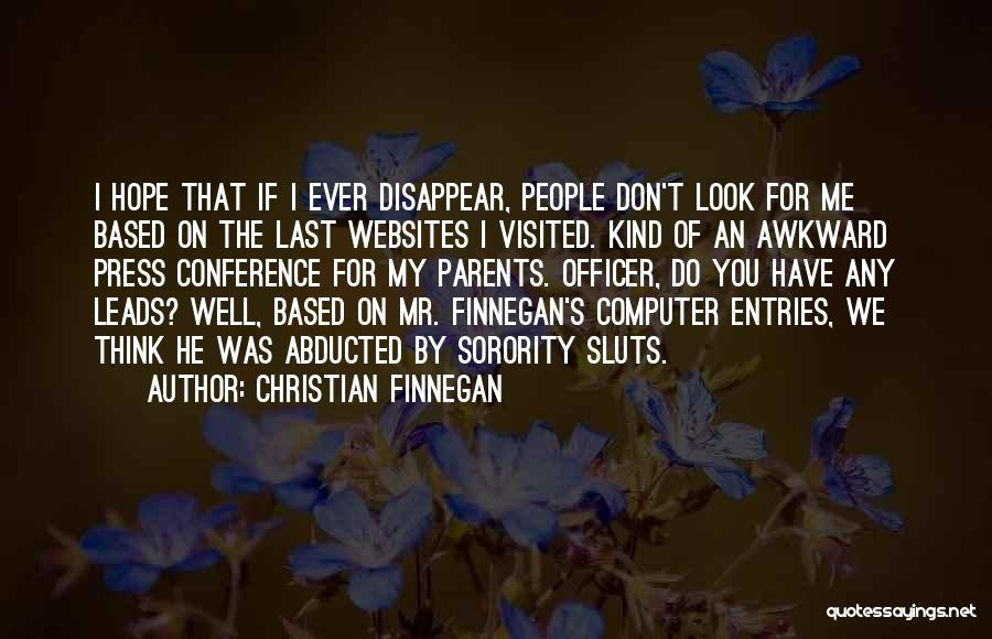 If I Disappear Quotes By Christian Finnegan
